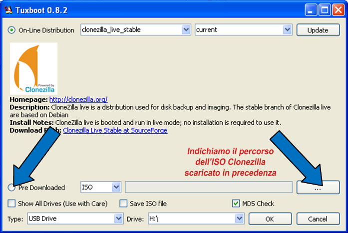 CLONAZIONE CON CLONEZILLA DI PC CON WIN7 64BIT UEFI
